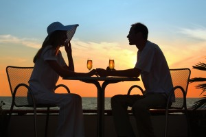 Romantic Dinner date younger women