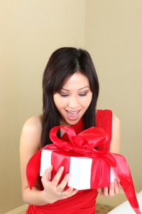 Thai Woman with gift